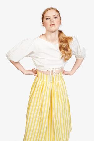 Kimani Skirt in Yellow Otto Stripe by Whit - 2