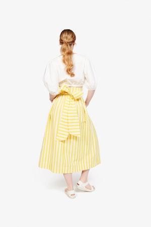 Kimani Skirt in Yellow Otto Stripe by Whit - 4