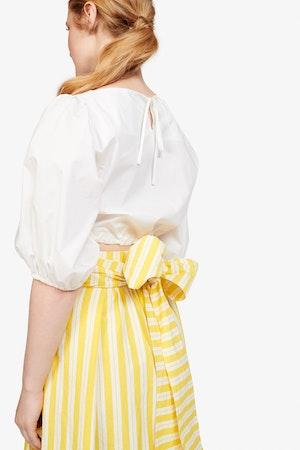 Kimani Skirt in Yellow Otto Stripe by Whit - 3
