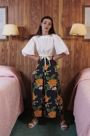 Sun Pant in Navy Hermosa Floral by Whit - 2