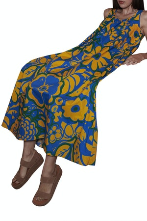Anna Dress Ashbury Floral Yellow/Blue by Whit - 1