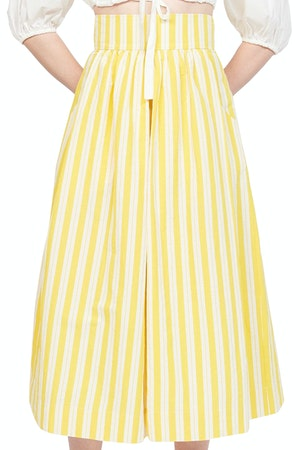 Kimani Skirt in Yellow Otto Stripe by Whit - 1