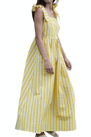 Ribbon Dress in Otto Stripe Yellow by Whit - 1