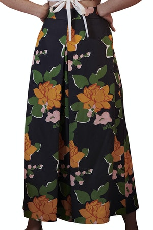 Sun Pant in Navy Hermosa Floral by Whit - 1
