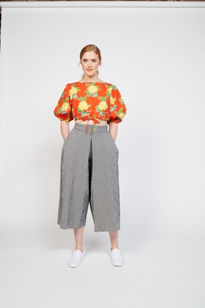 Sun Pant in Nayla Gingham Black/White by Whit - 1