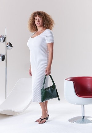 RIB Andros Dress in Macadamia by Simon Miller - 3