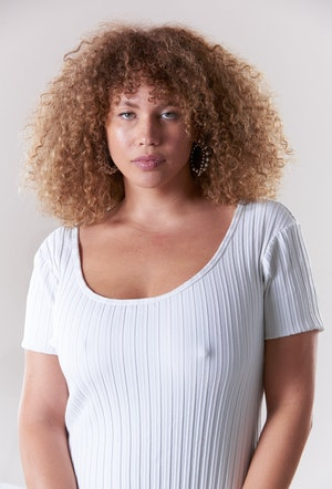 RIB Andros Dress in Macadamia by Simon Miller - 2