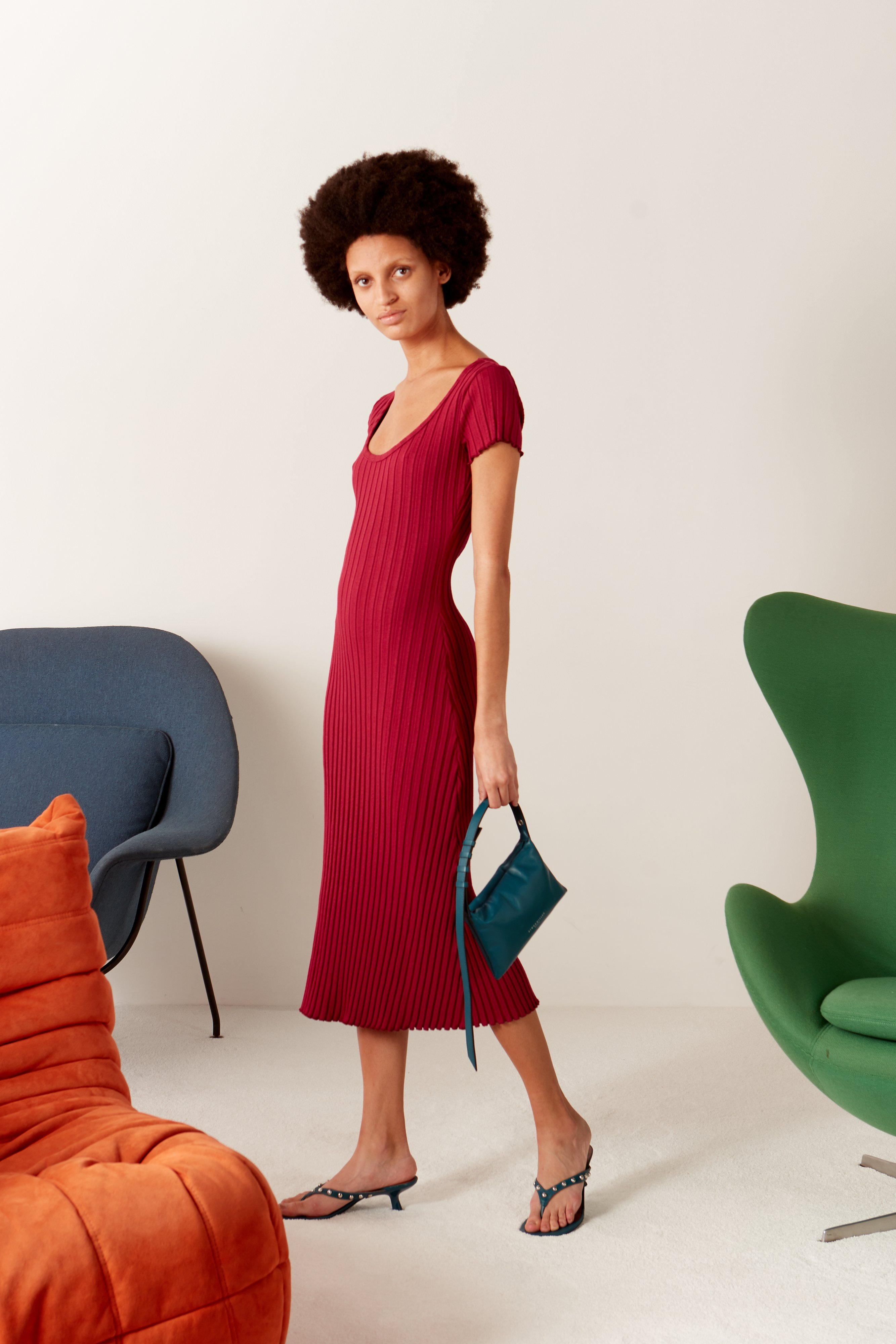 RIB Andros Dress in Rumba Red by Simon Miller - 4