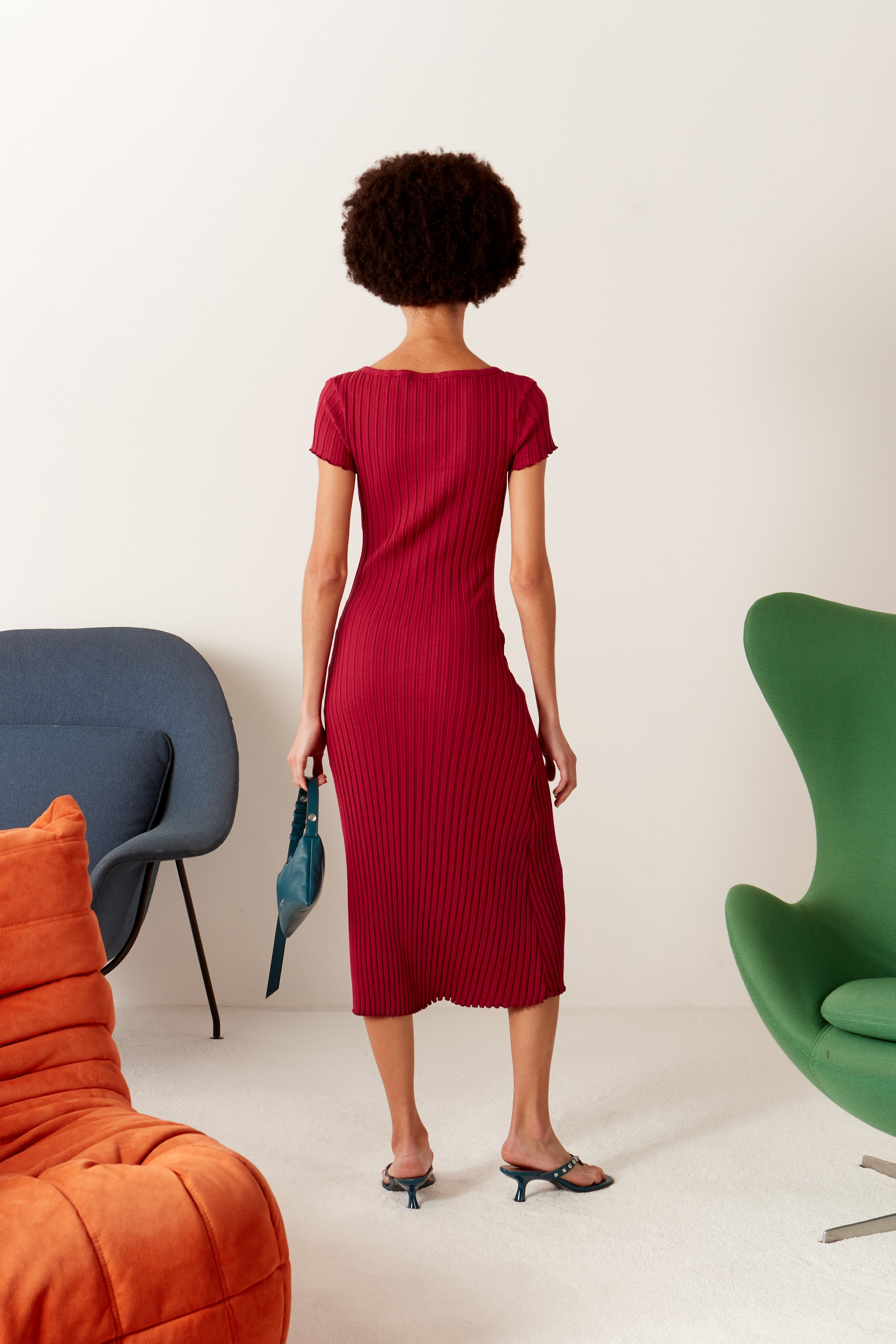 RIB Andros Dress in Rumba Red by Simon Miller - 5