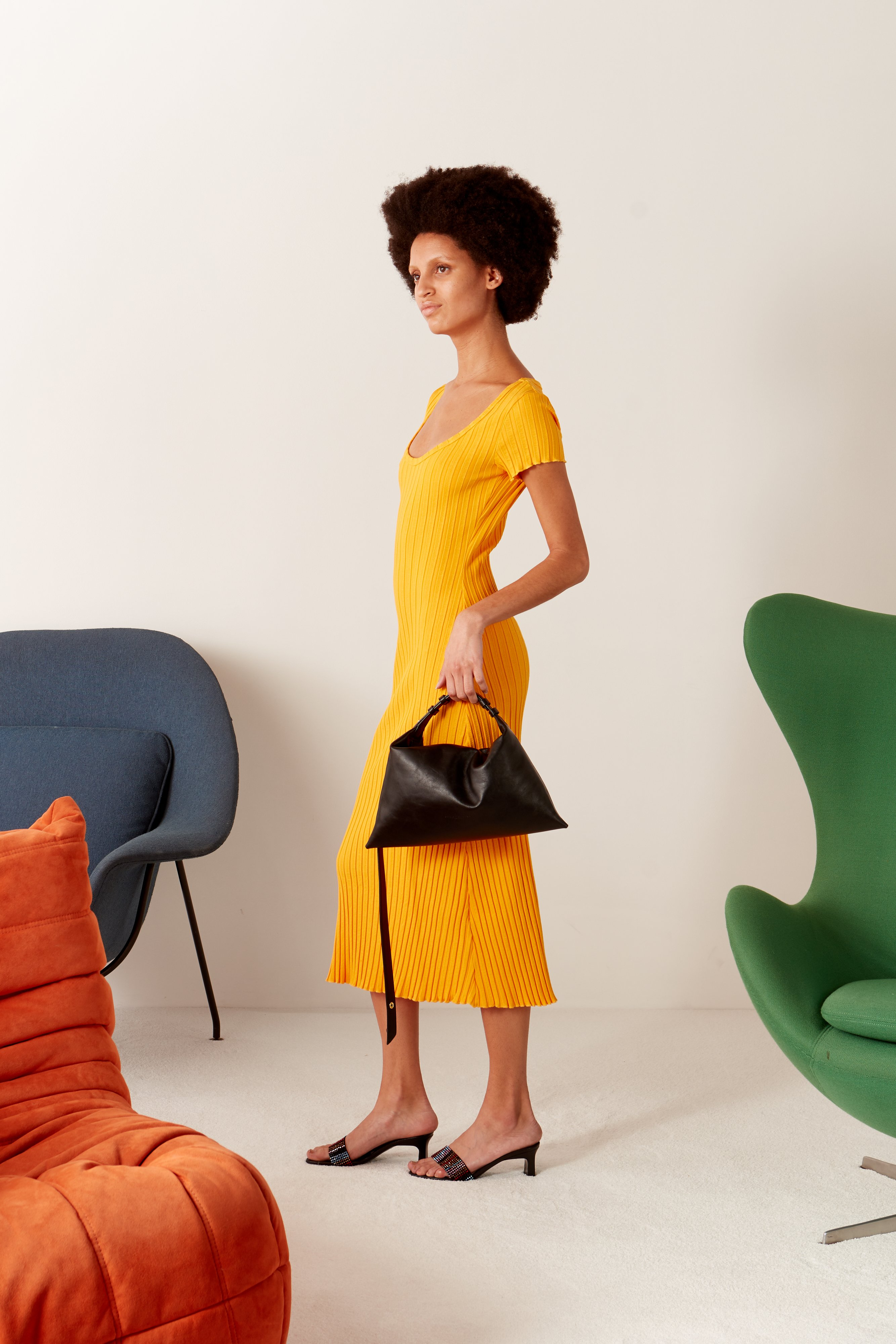RIB Andros Dress in Sunset Orange by Simon Miller - 4