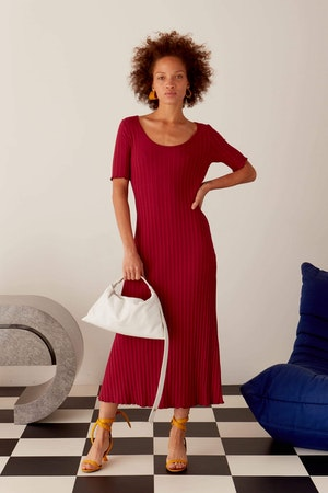 RIB Andros Dress in Rumba Red by Simon Miller - 3