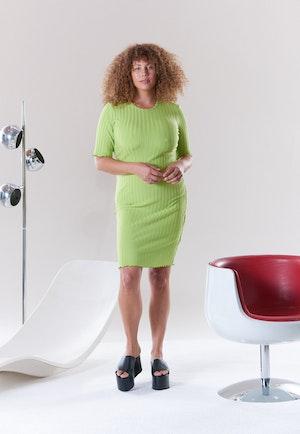 RIB Capo Dress in Algae by Simon Miller - 5