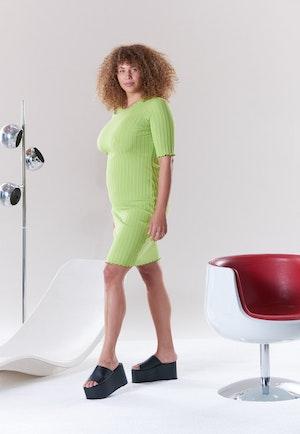 RIB Capo Dress in Algae by Simon Miller - 4