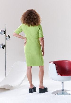 RIB Capo Dress in Algae by Simon Miller - 3