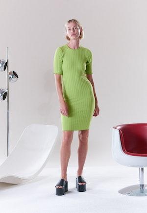 RIB Capo Dress in Algae by Simon Miller - 6