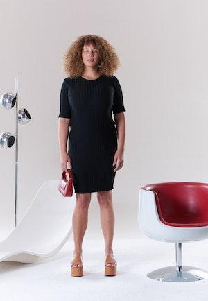 RIB Capo Dress in Black by Simon Miller - 2