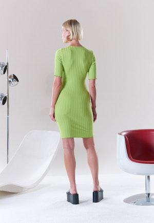 RIB Capo Dress in Algae by Simon Miller - 7