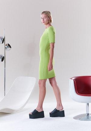 RIB Capo Dress in Algae by Simon Miller - 8