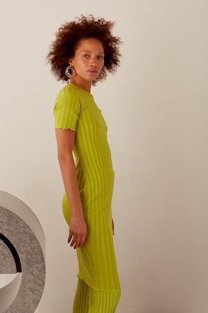RIB Capo Dress in Algae by Simon Miller - 11