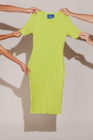 RIB Capo Dress in Algae by Simon Miller - 2