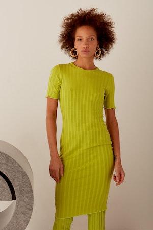 RIB Capo Dress in Algae by Simon Miller - 9