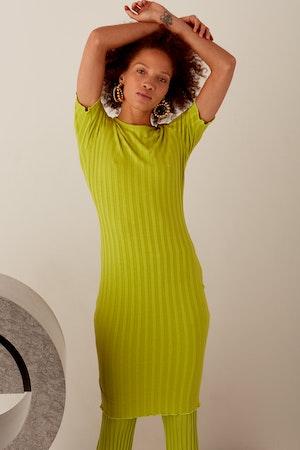 RIB Capo Dress in Algae by Simon Miller - 10