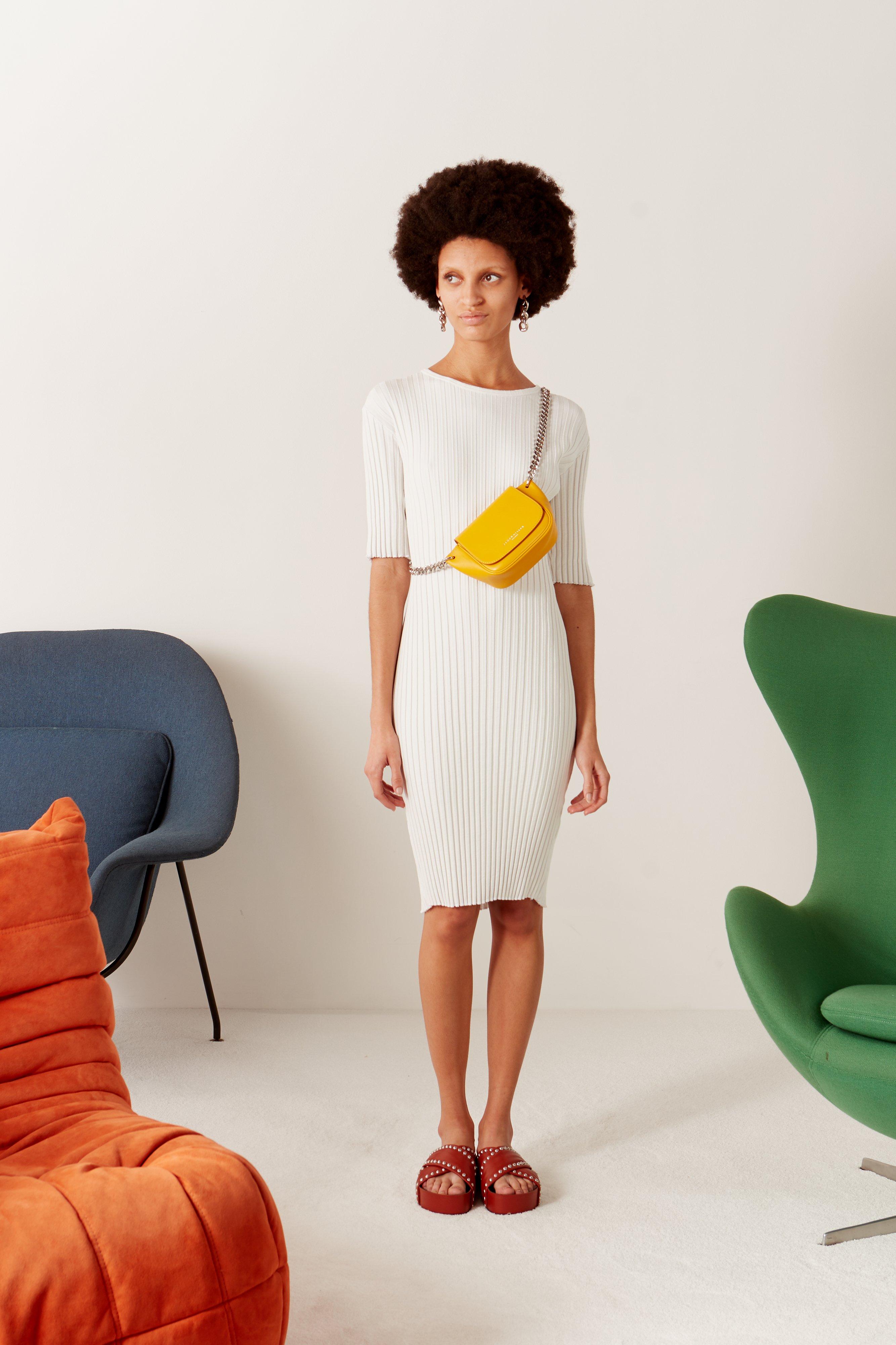 RIB Capo Short Dress in Macadamia by Simon Miller - 5