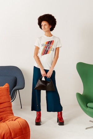 Mesa Graphic Fitted Tee in White by Simon Miller - 5