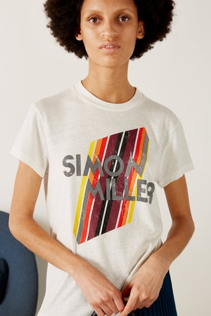 Mesa Graphic Fitted Tee in White by Simon Miller - 2