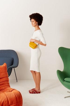 Mini Bend Bag in Signal Yellow by Simon Miller - 3