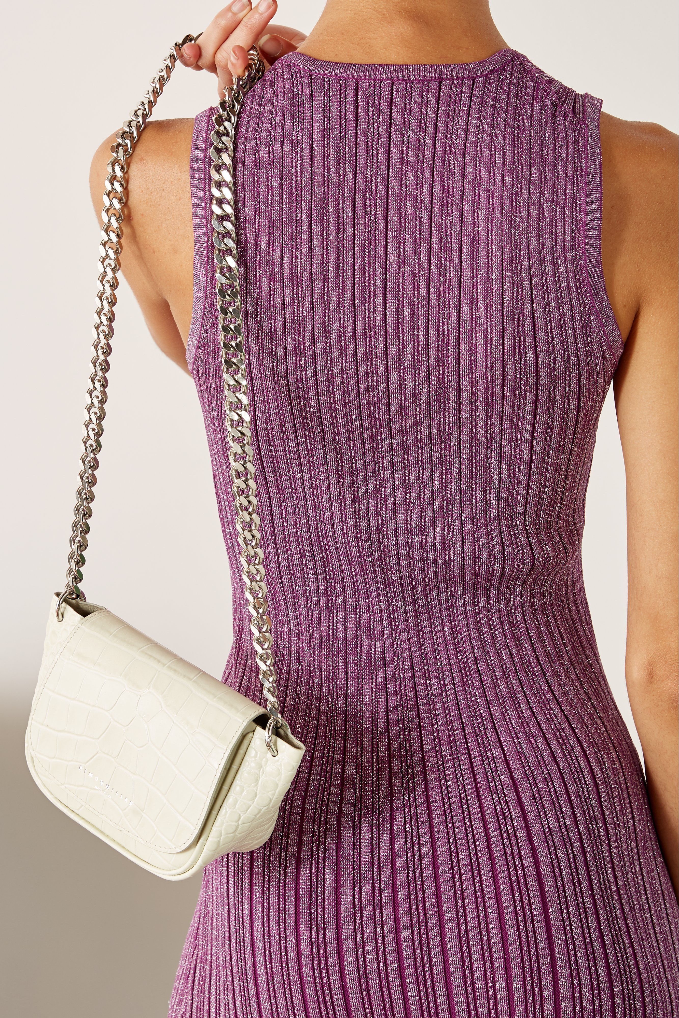 Mini Bend Bag in White Croc by Simon Miller - 3