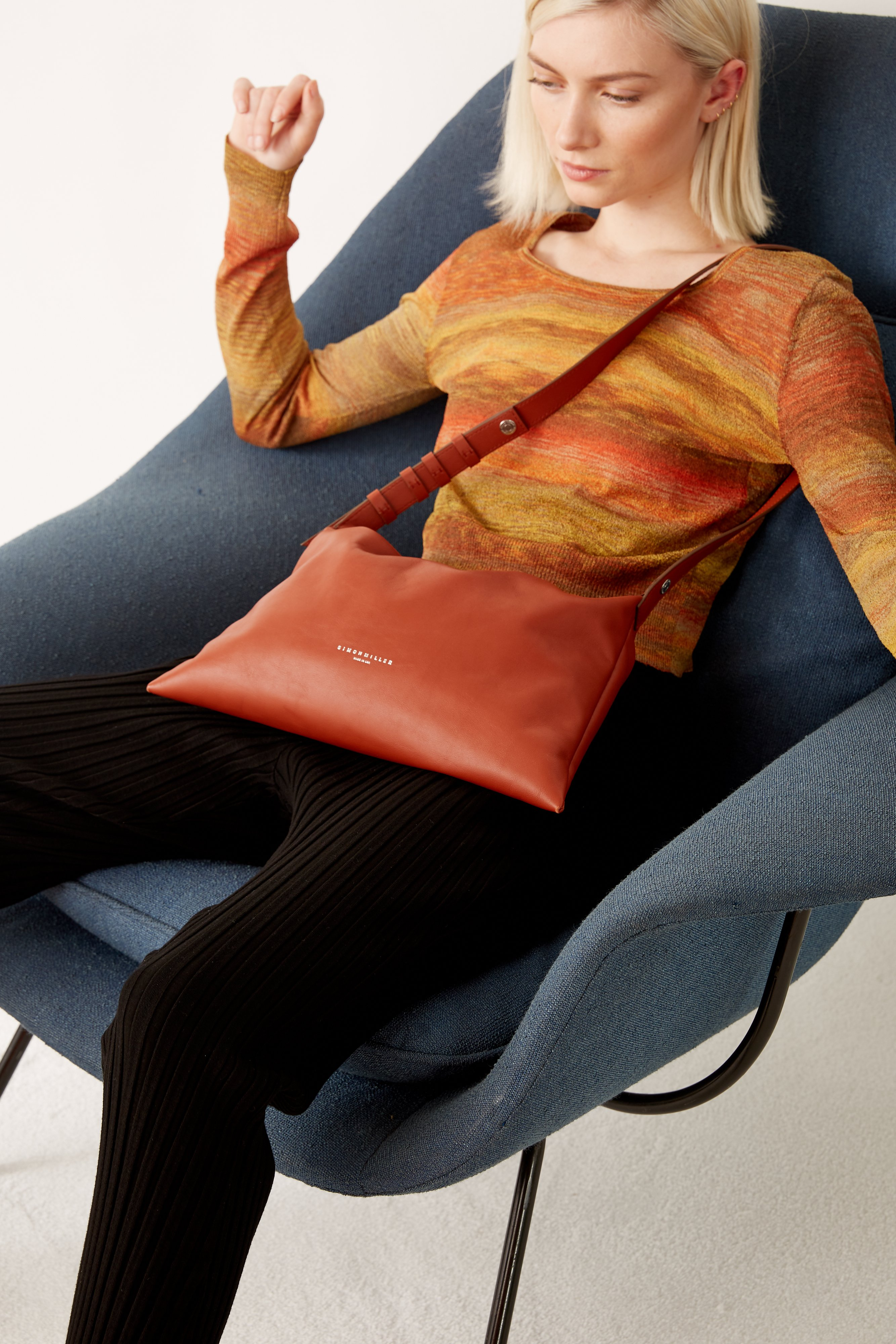 Puffin Bag in Sepia Brown by Simon Miller - 2