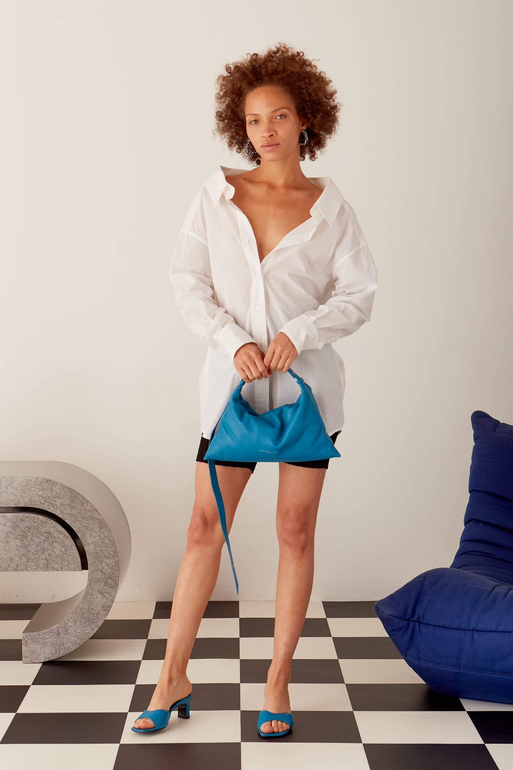 Puffin Bag in Soaring Blue by Simon Miller - 2