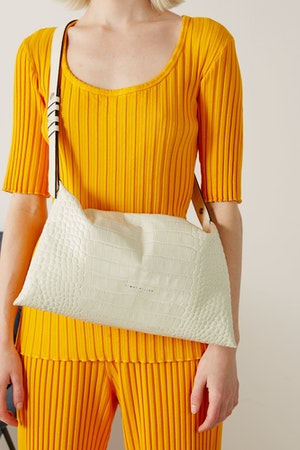 Puffin Bag in White Croc by Simon Miller - 2