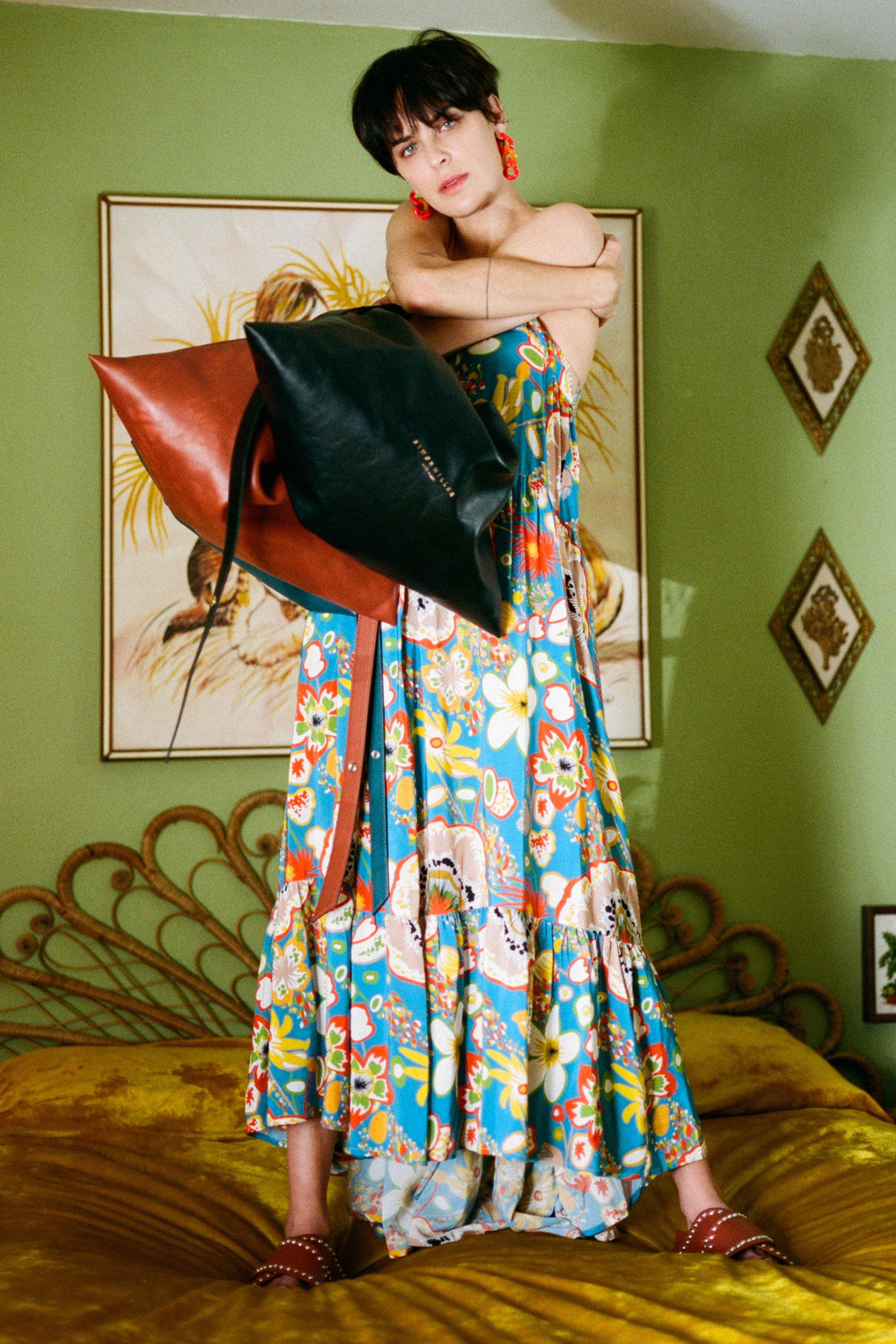 Pumpa Layered Tank Dress in Blue Floral Print by Simon Miller - 4