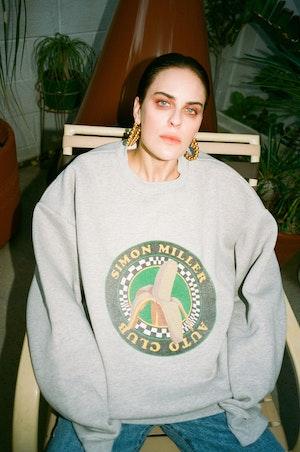 Rista Oversized Sweatshirt in Banana Print by Simon Miller - 5