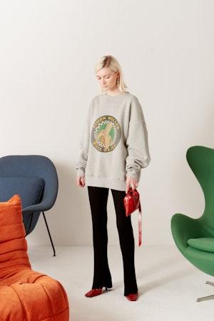 Rista Oversized Sweatshirt in Banana Print by Simon Miller - 2