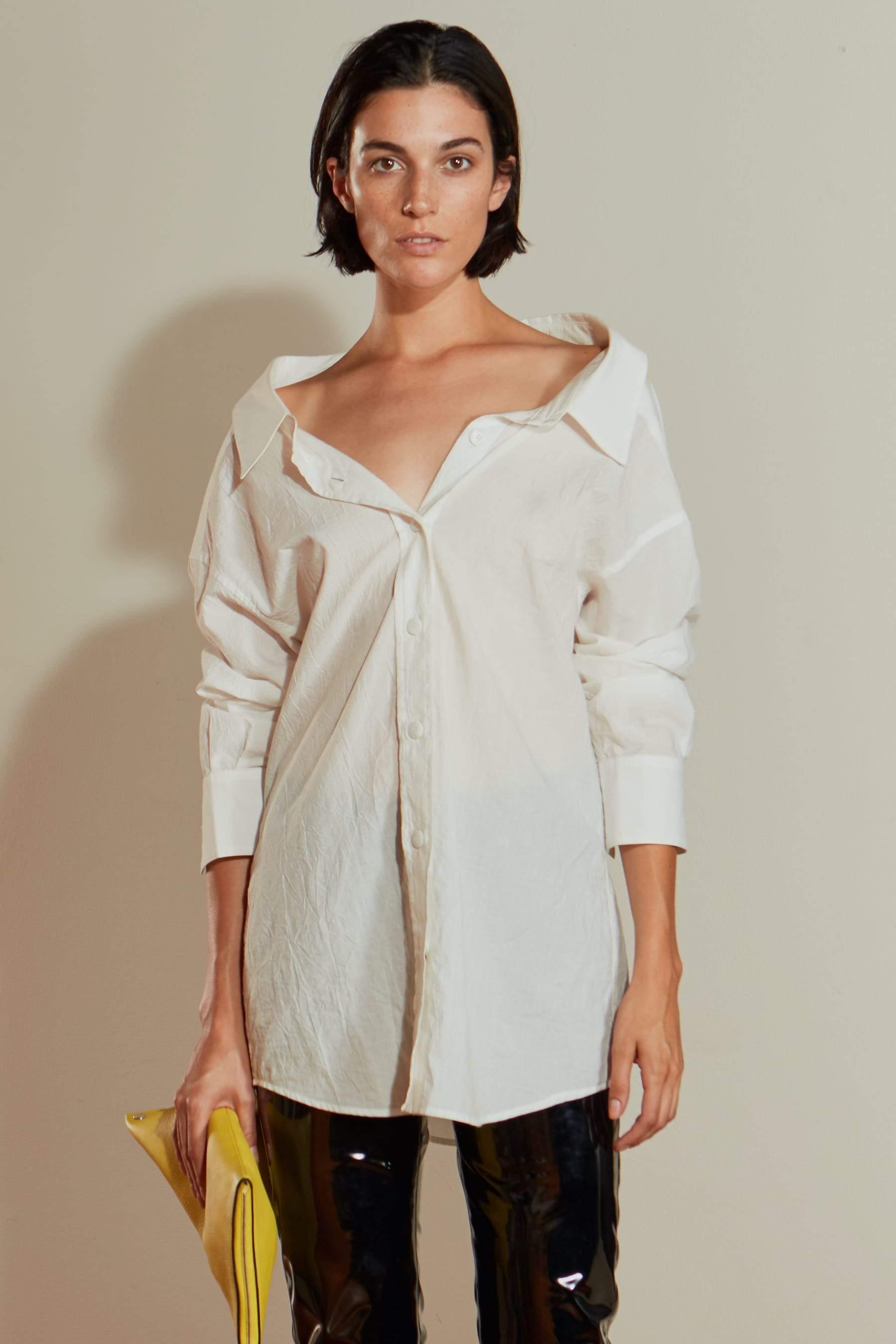 Tabor Shirt in White by Simon Miller - 2