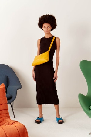RIB Tali Dress in Black by Simon Miller - 2