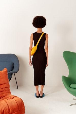 RIB Tali Dress in Black by Simon Miller - 3