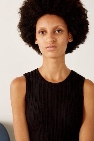 RIB Tali Dress in Black by Simon Miller - 6