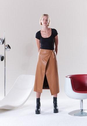 VEGAN Vega Skirt in Toffee by Simon Miller - 2