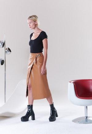 VEGAN Vega Skirt in Toffee by Simon Miller - 3