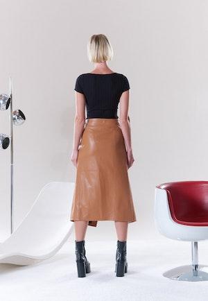 VEGAN Vega Skirt in Toffee by Simon Miller - 4