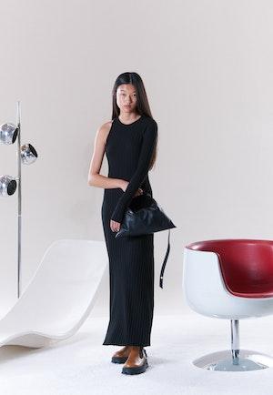 RIB Knoll Dress in Black by Simon Miller - 2