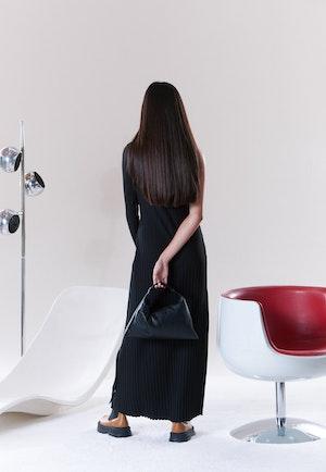 RIB Knoll Dress in Black by Simon Miller - 3