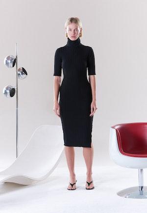RIB Novo Dress in Black by Simon Miller - 2