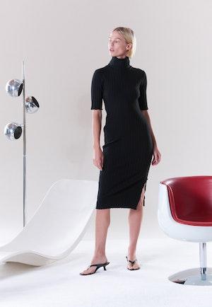 RIB Novo Dress in Black by Simon Miller - 5