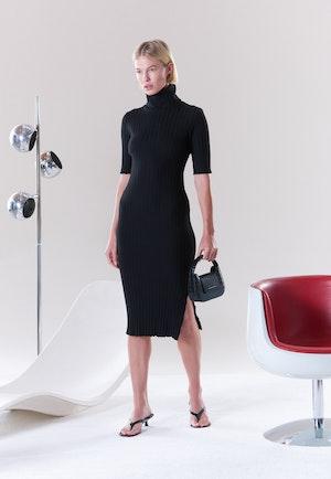 RIB Novo Dress in Black by Simon Miller - 6