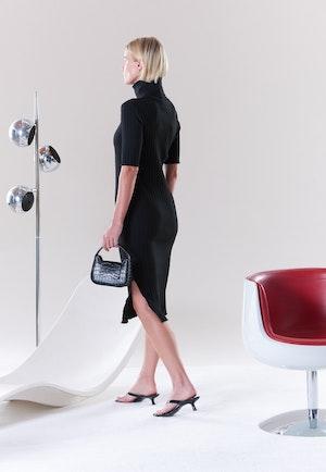 RIB Novo Dress in Black by Simon Miller - 4